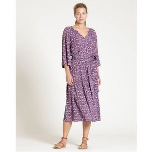 GAP Tiered Smocked Floral Print Midi Dress Petite